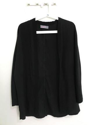 Black loose blazer