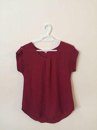 Red Blouse (Fits S)
