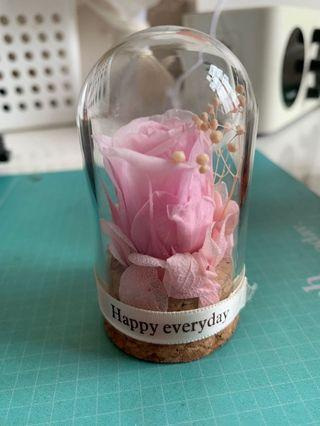 絲花玫瑰玻璃瓶