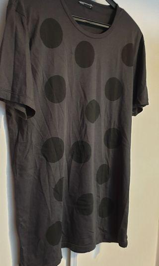 Sale Lad musician black grey polka dot t shirt