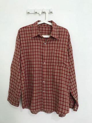 Tartan oversized shirt