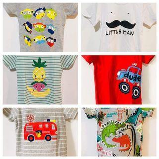 6 T Shirts for 2T Boy Bundle Sale