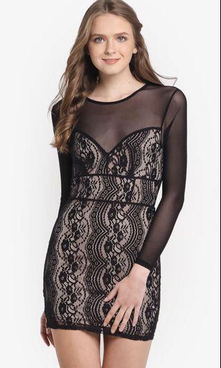 MISS SELFRIDGE Petite Mesh Lace Dress