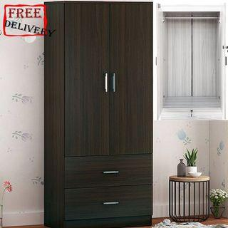 Wardrobe/Locker/Storage rack/Receiving frame/Dark brown
