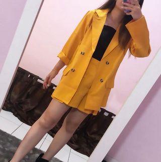Set blazer kuning