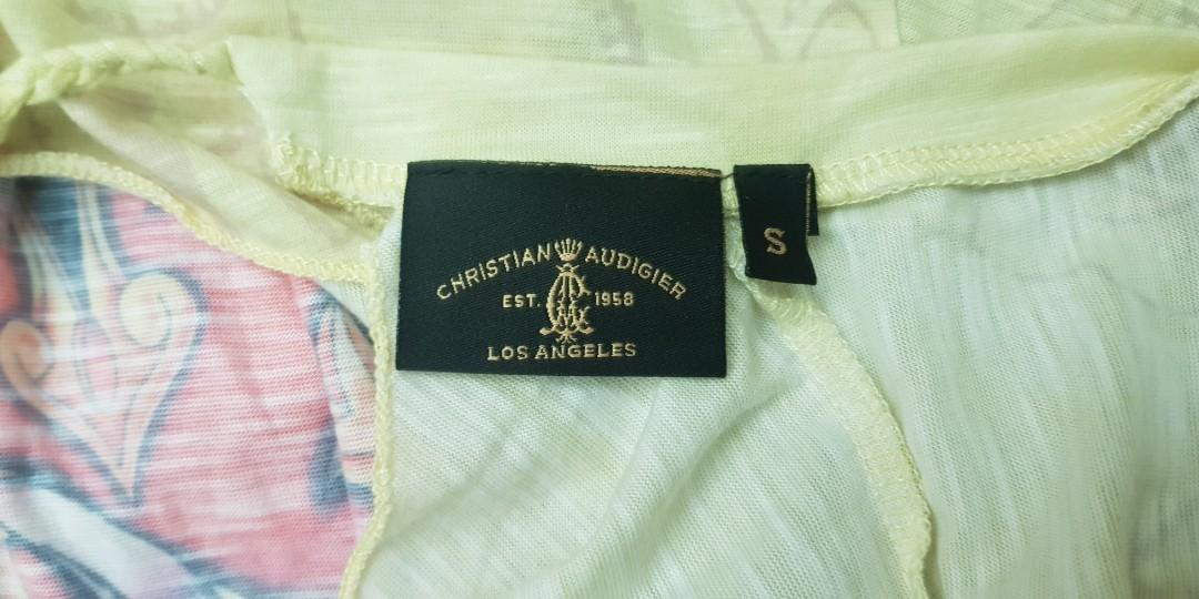 接近新100%美國製潮牌Christian Audigier 繞頸挖背上衣