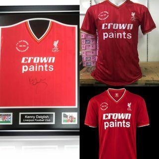 1985-1986 Liverpool Crown Paints Winner Kit Retro Shirt