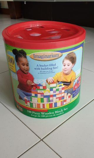 Imaginarium  100pc wooden blocks