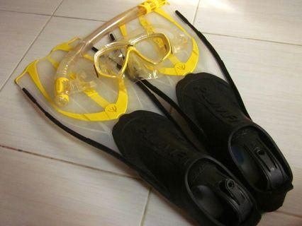 Snorkeling set Cressi Pluma #BAPAU