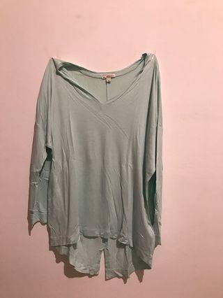 GAP light-green oversized blouse