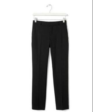 BANANA REPUBLIC Ryan-Fit Black Lightweight Wool Slim-Straight Pant