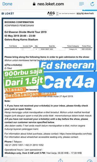 JUAL RUGI ed sheeran cat 4a (dari 1.5juta)