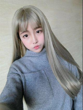 BRAND NEW IN PACKAGE Grey Long Straight Wig