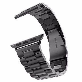 $28 全新! 最後機會! 蘋果手錶 黑色鋼錶帶 42mm Apple Watch Band Replacement Solid Stainless Steel 42mm (Black)