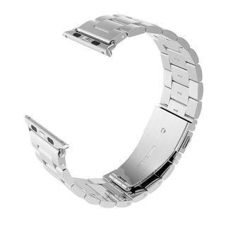 $28 全新! 最後機會! 蘋果手錶 銀色鋼錶帶 42mm Apple Watch Band Replacement Solid Stainless Steel 42mm (Silver)