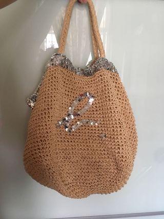 Agnes B straw bag