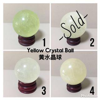 📢Sales • Feng Shui Yellow Crystal Ball 风水黄水晶球