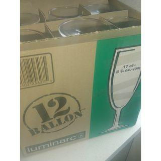 12 luminarc champagne flutes glasses in box