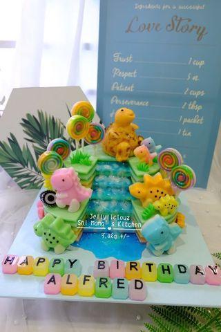 Dinosaurs Jelly Cake