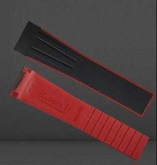 Authentic rubberb dual colour strap for sky dweller on strap