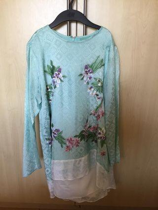 Sodagar high low embroidered top