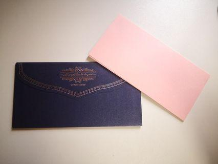 Thank you card and envelope