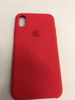 100% Apple Orignial iPhone XS Silicone Case Red