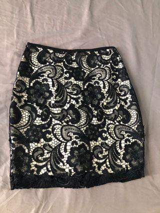 Brand New No Tag Black Lace Skirt