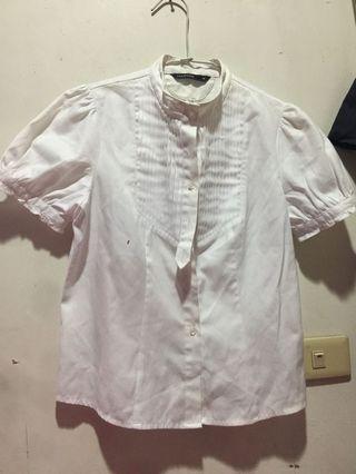 🚚 二手Mastina 白色短袖襯衫(M,38)