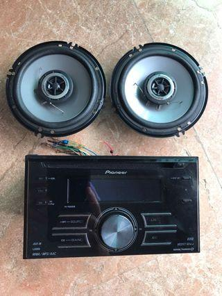 Pioneer 2Din headunit and coaxial speaker set