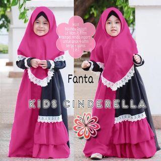 Gamis Anak Muslim Cinderela ( tersedia 4 warna)
