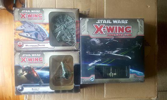 Star wars miniatures xwing slave1 millennium falcon ships