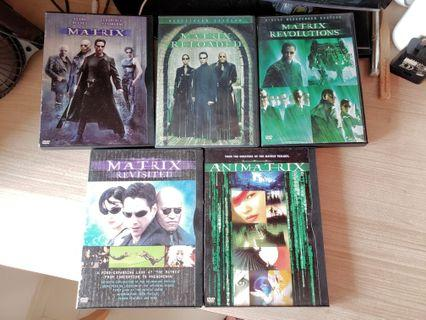 The Matrix Movie Full Set DVD