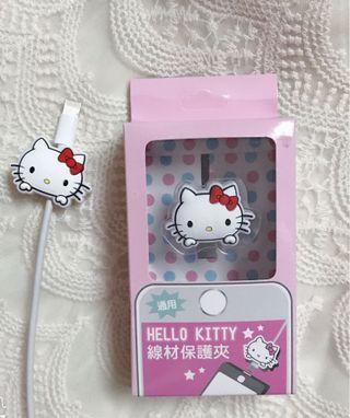全新❤️hello kitty 線材 保護夾 3C 保護套 充電線 保護 手機