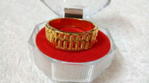Korean Gold Plated Abacus Ring