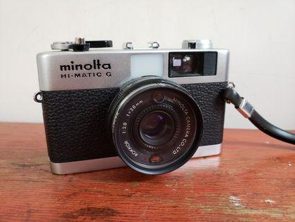Minolta Hi-Matic G with Filter