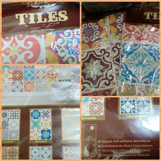 Morrocon style self adhesive tile wall sticker
