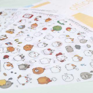 [SALE] 6 sheets Molang stickers