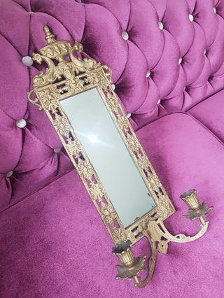 French Mirror Rococo Gilded Bronze Antique