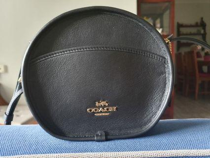 Coach Black Round Sling Bag