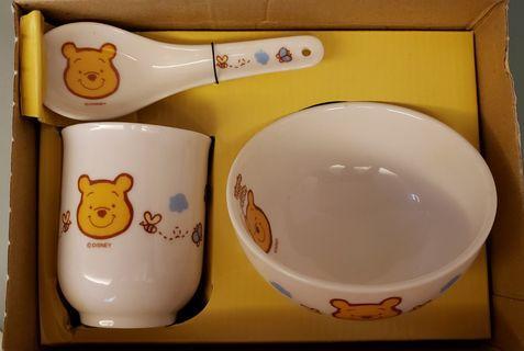 Winnie the Pooh小熊維尼~杯碗匙羹套裝