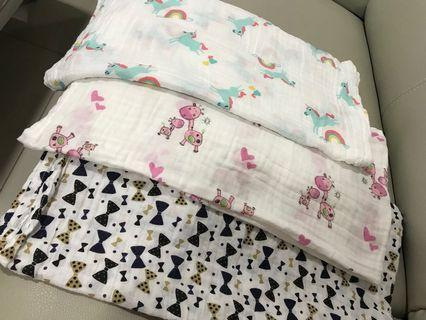 3 pieces Baby swaddle 100% cotton baby wrap