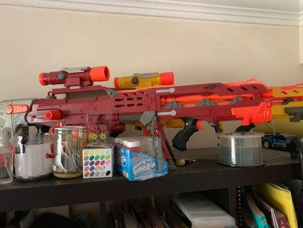 Mint condition nerf Crimson Red Longshot