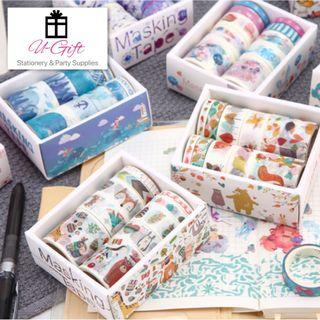 🚚 [STA]Mermaid Ocean Animal Washi Paper Tape Set