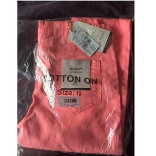 Women's Skinny Fit Jean - Neon Coral Colour / COTTON:ON