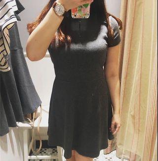 6ixty 8ight 碳花灰針織連身裙