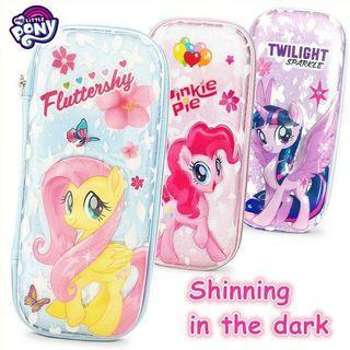 Ready Stock🌈Cute Cartoon My Little Pony luminous Animal EVA Pencil Box Pen Case