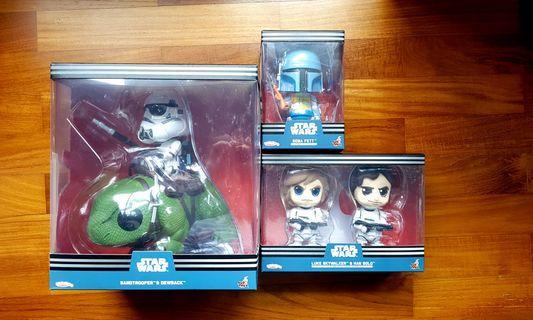 Cosbaby Star Wars Assorted Dewback Sandtrooper Luke Skywalker Han Solo Boba Fett