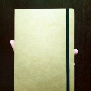 Unbleached notebook
