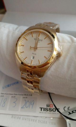 [至抵]全新金色tissot錶連盒